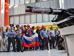 Встреча сборной России по хоккею после победы на чемпионате мира. Фото 13